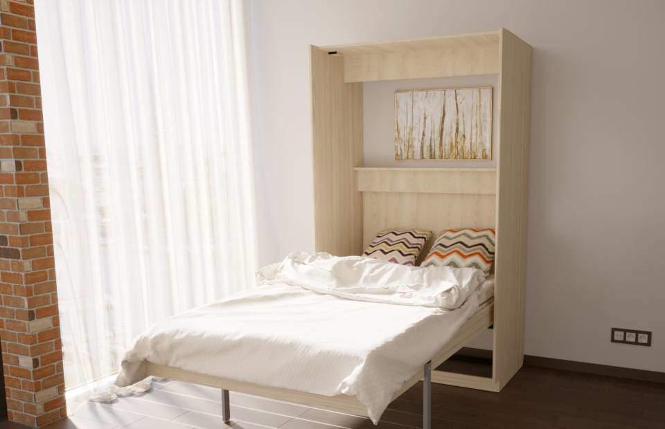 Подъёмная кровать ОПТИМУМ | «1,5-спальная» открытая