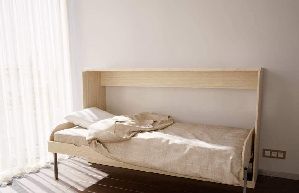 1,5-спальная подъёмная кровать горизонтальная