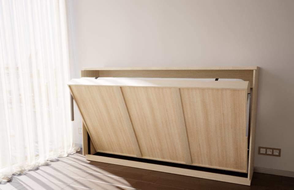 Раскладка 1,5-спальной подъёмной кровати