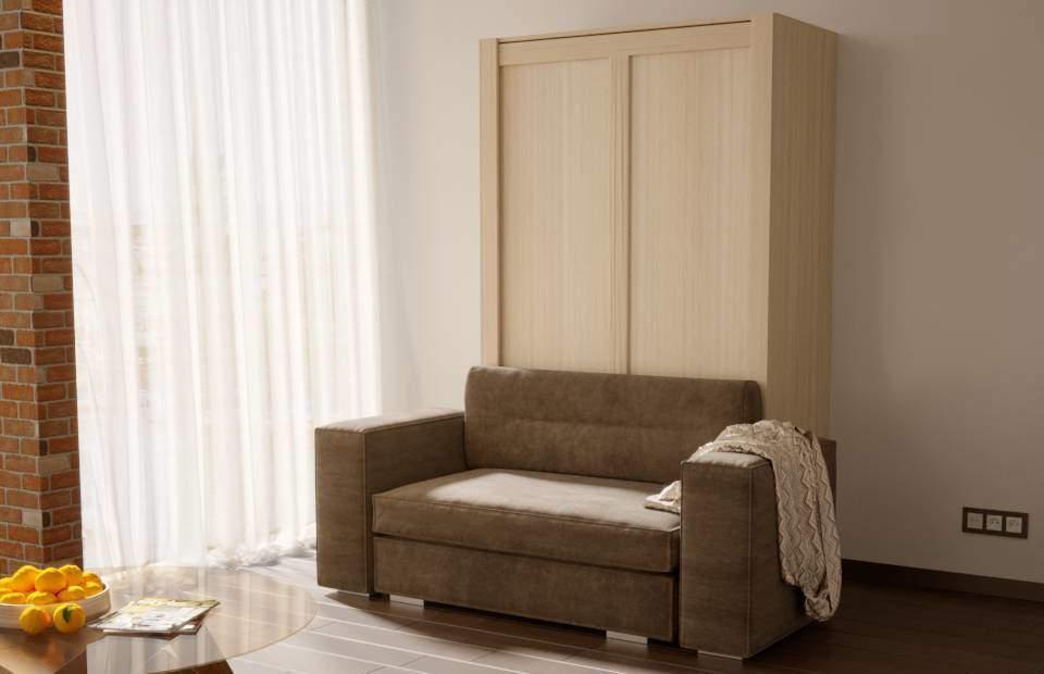 1,5-спальная подъёмная кровать с диваном