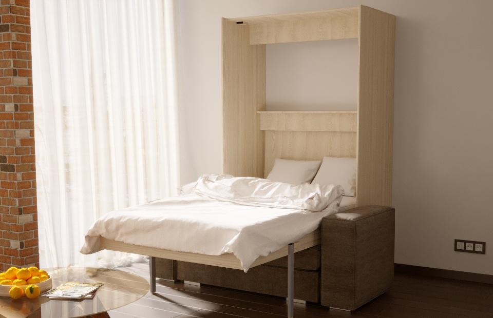 1,5-спальная подъёмная кровать с диваном купить