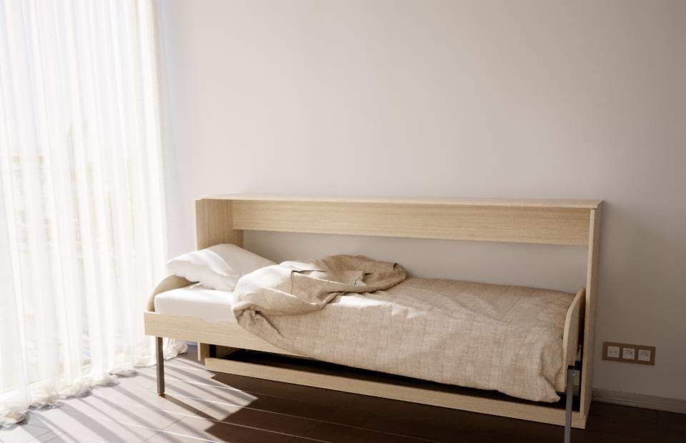 Подъемная кровать односпальная