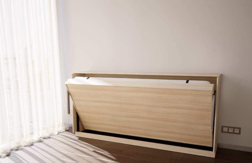 Раскладка подъемной кровати односпальной