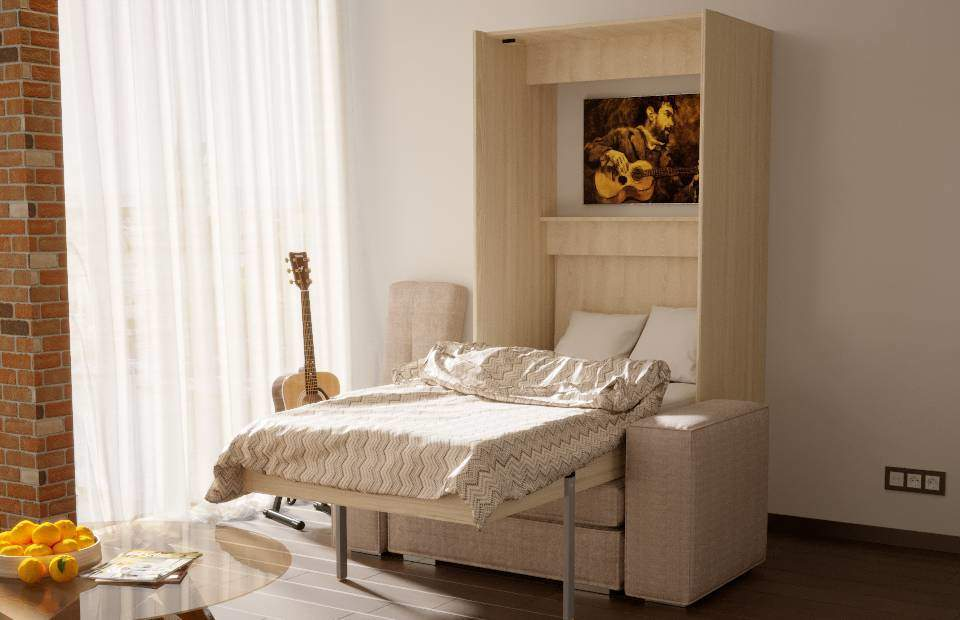 Шкаф-кровать с диваном 1-спальная