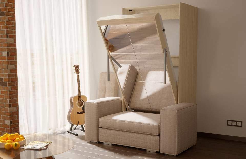 Подъёмная кровать с диваном 1-спальная в спб