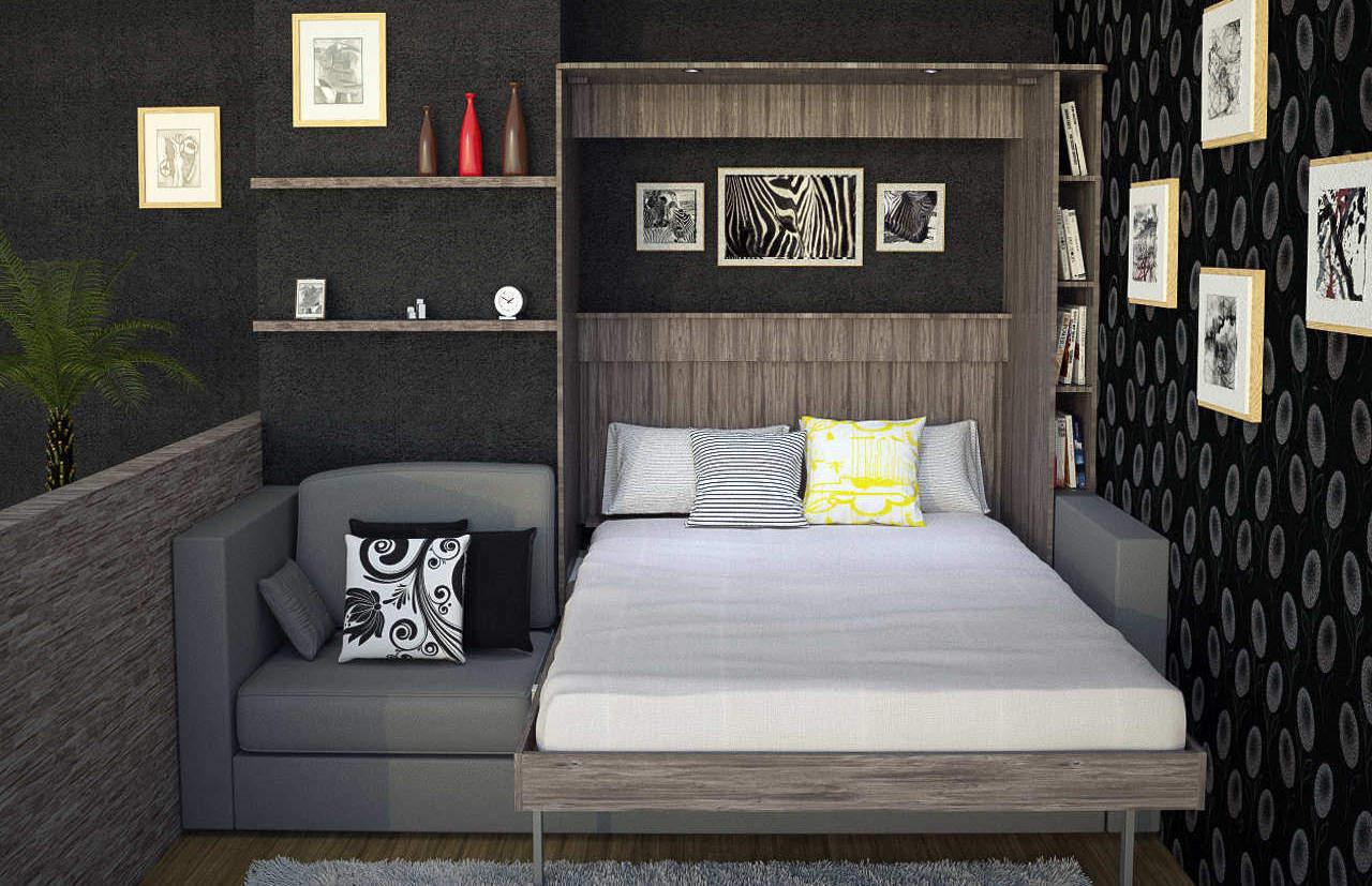 Комплект с 2-спальной подъёмной кроватью и диваном «Саванна» спб