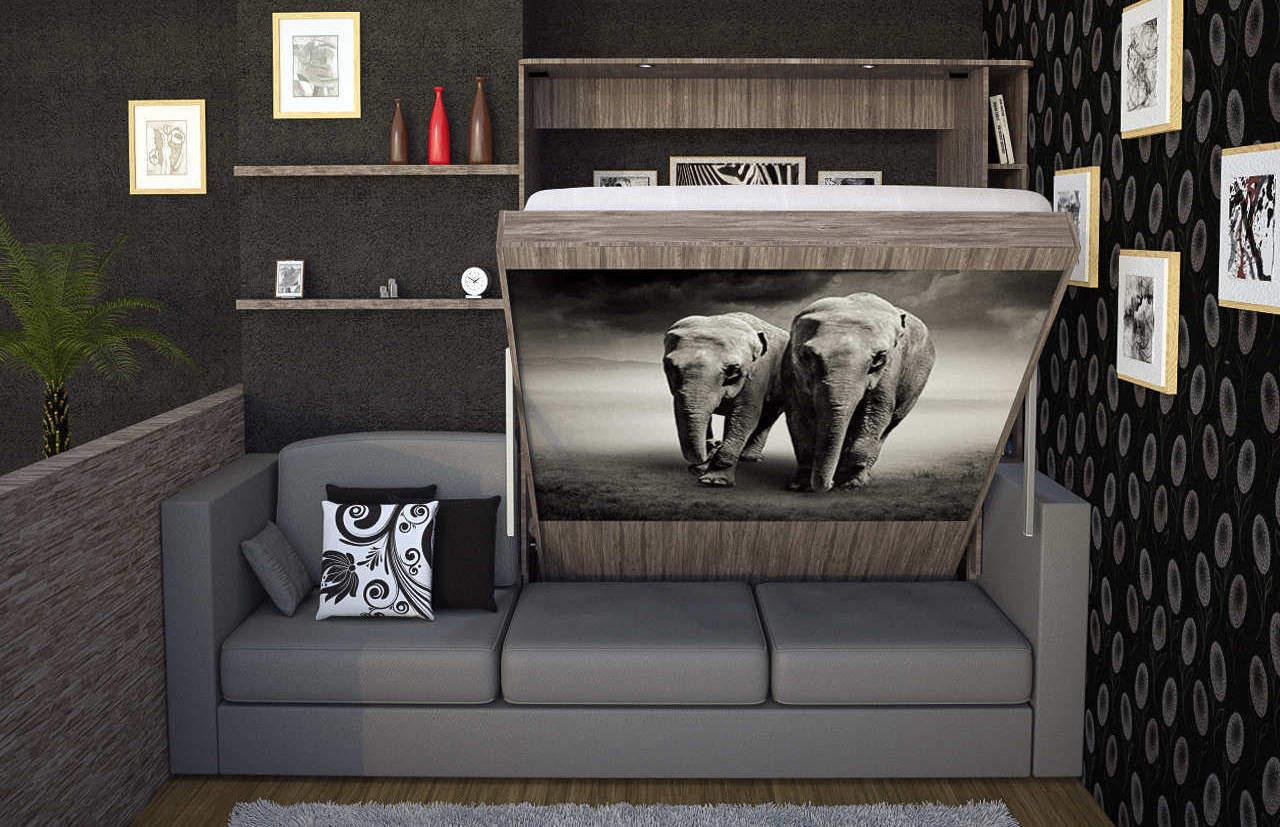 Комплект с 2-спальной подъёмной кроватью и диваном «Саванна» купить