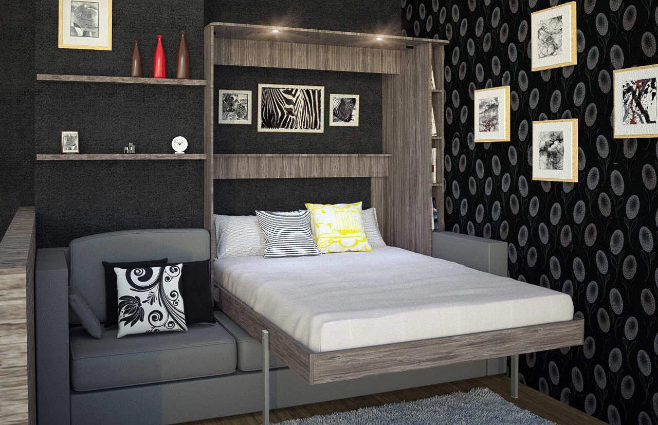 Комплект с 2-спальной подъёмной кроватью и диваном «Саванна»