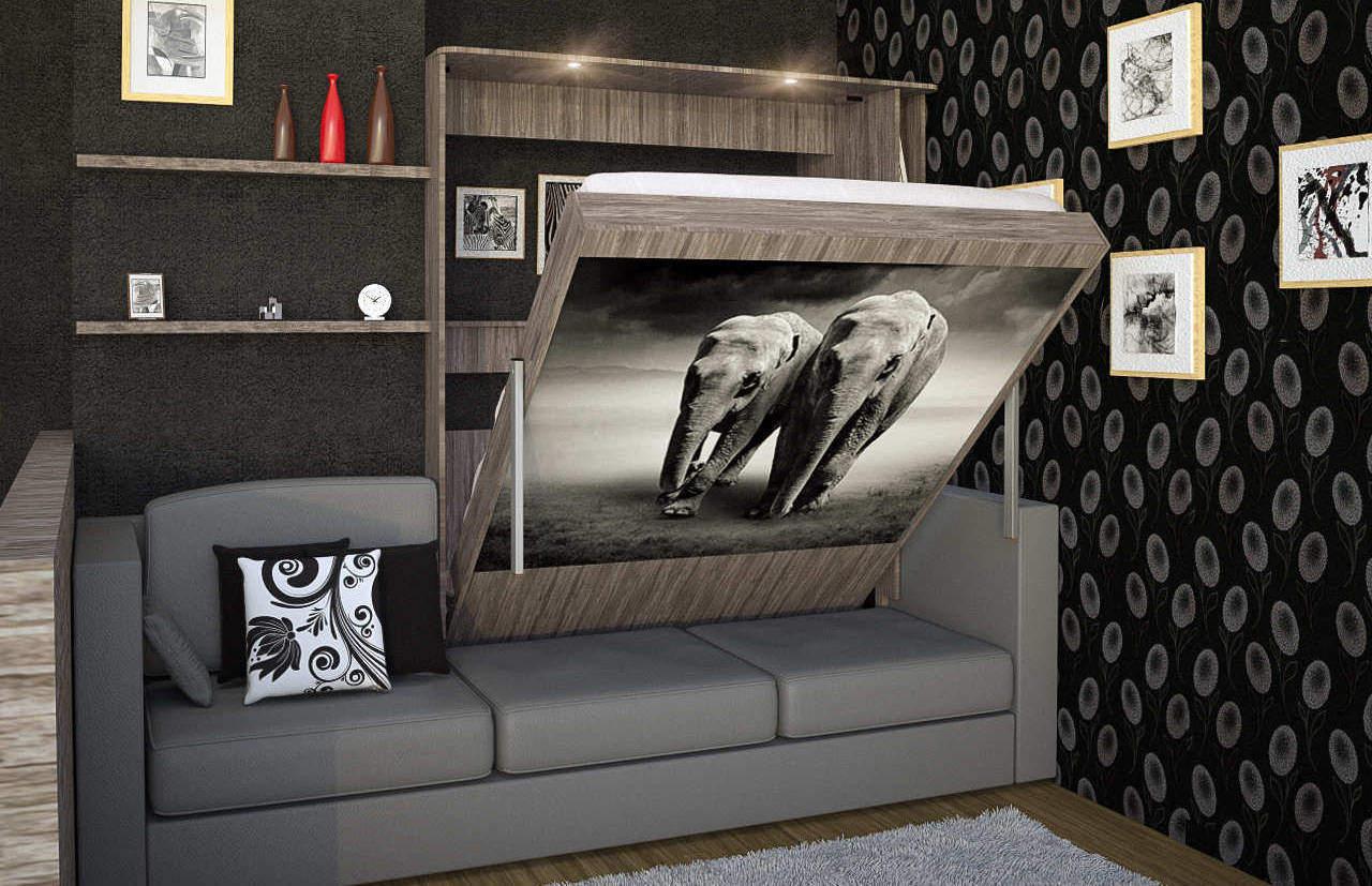 Комплект с 2-спальной подъёмной кроватью и диваном «Саванна» цена