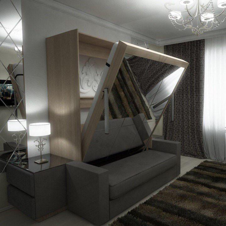 Подъёмная кровать с диваном