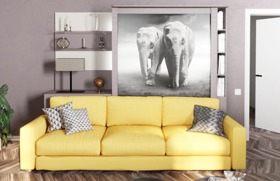 Комплект с подъёмной кроватью и диваном «Кампо»