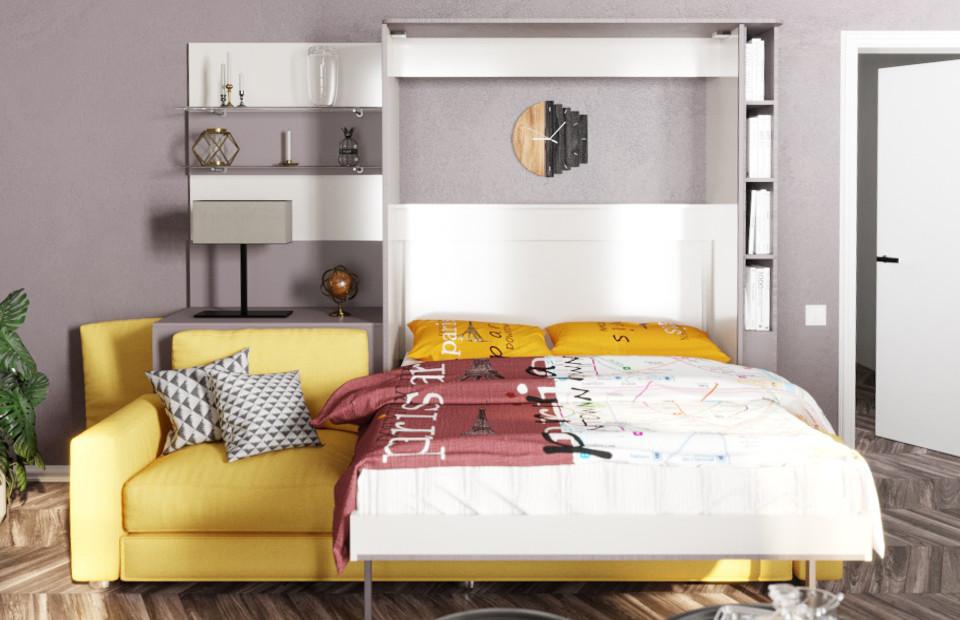 Комплект с подъёмной кроватью и диваном «Кампо» недорого