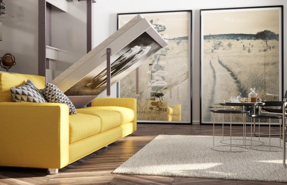 Комплект с подъёмной кроватью и диваном «Кампо» купить