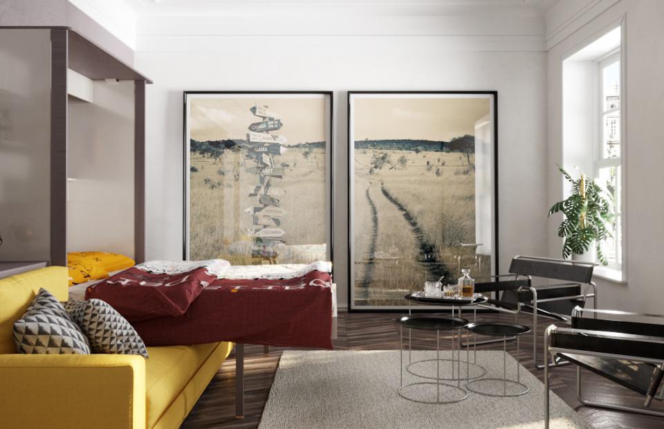 Комплект с подъёмной кроватью и диваном «Кампо» фото
