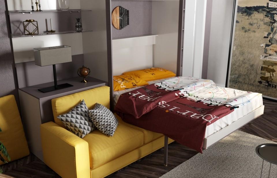 Комплект с подъёмной кроватью и диваном «Кампо» цена