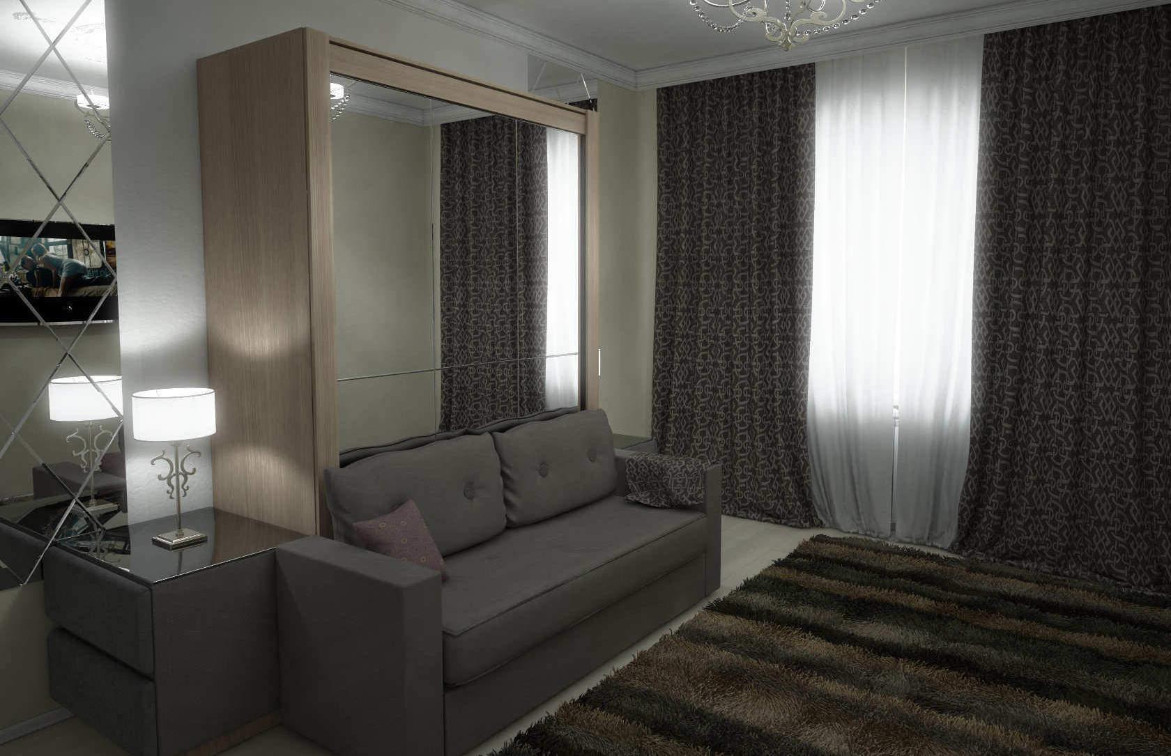 Комплект с подъёмной кроватью и диваном «Соло»
