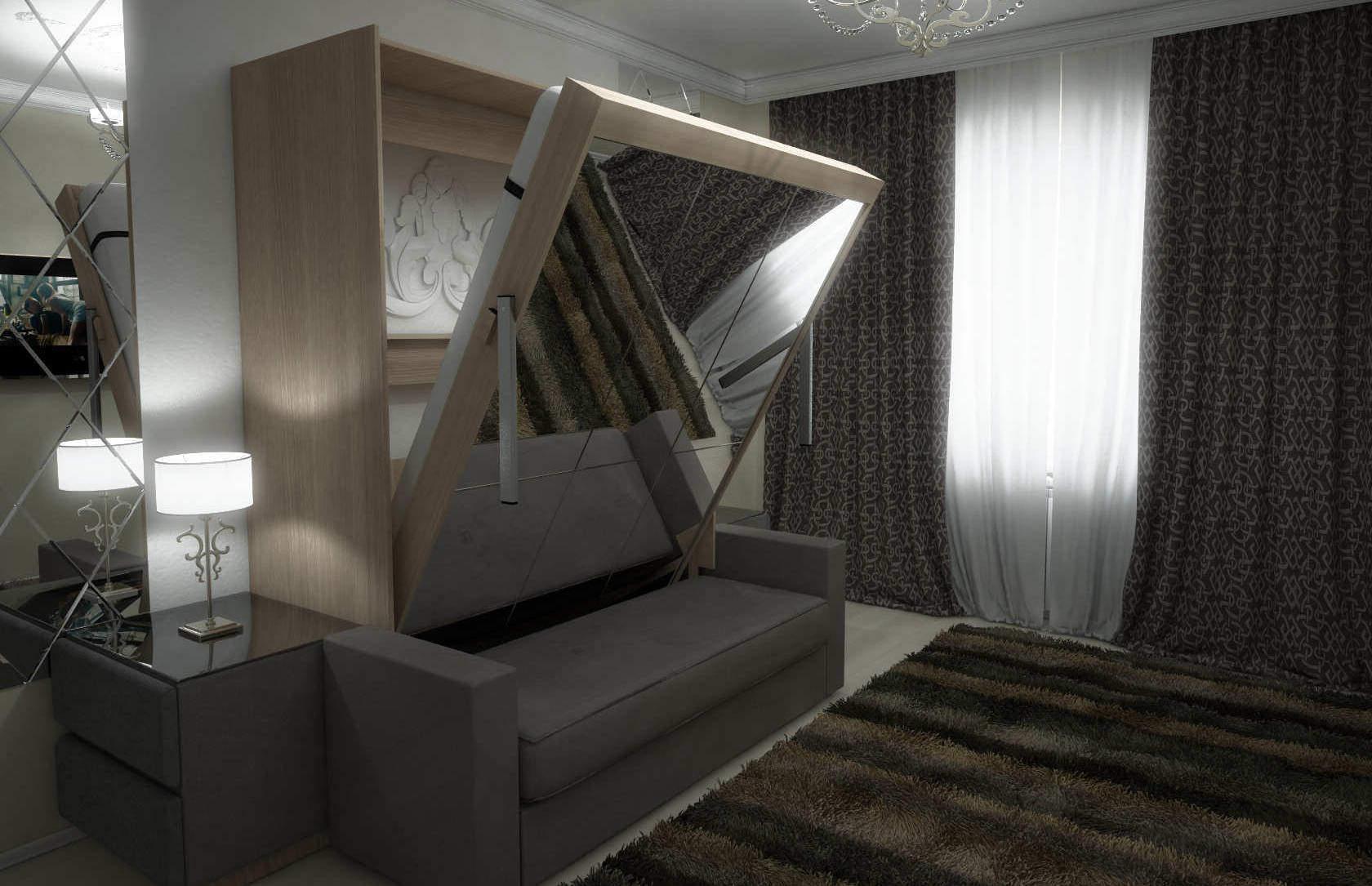 Комплект с подъёмной кроватью и диваном «Соло» спб