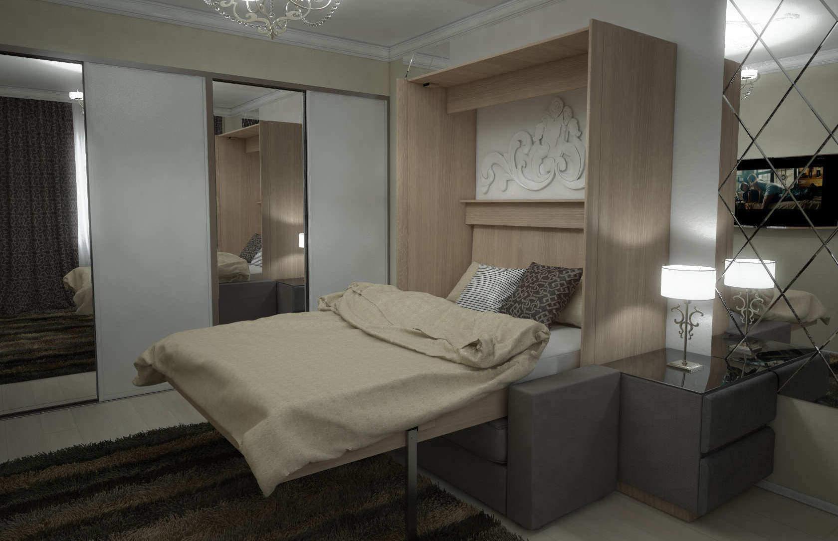 Комплект с подъёмной кроватью и диваном «Соло» недорого
