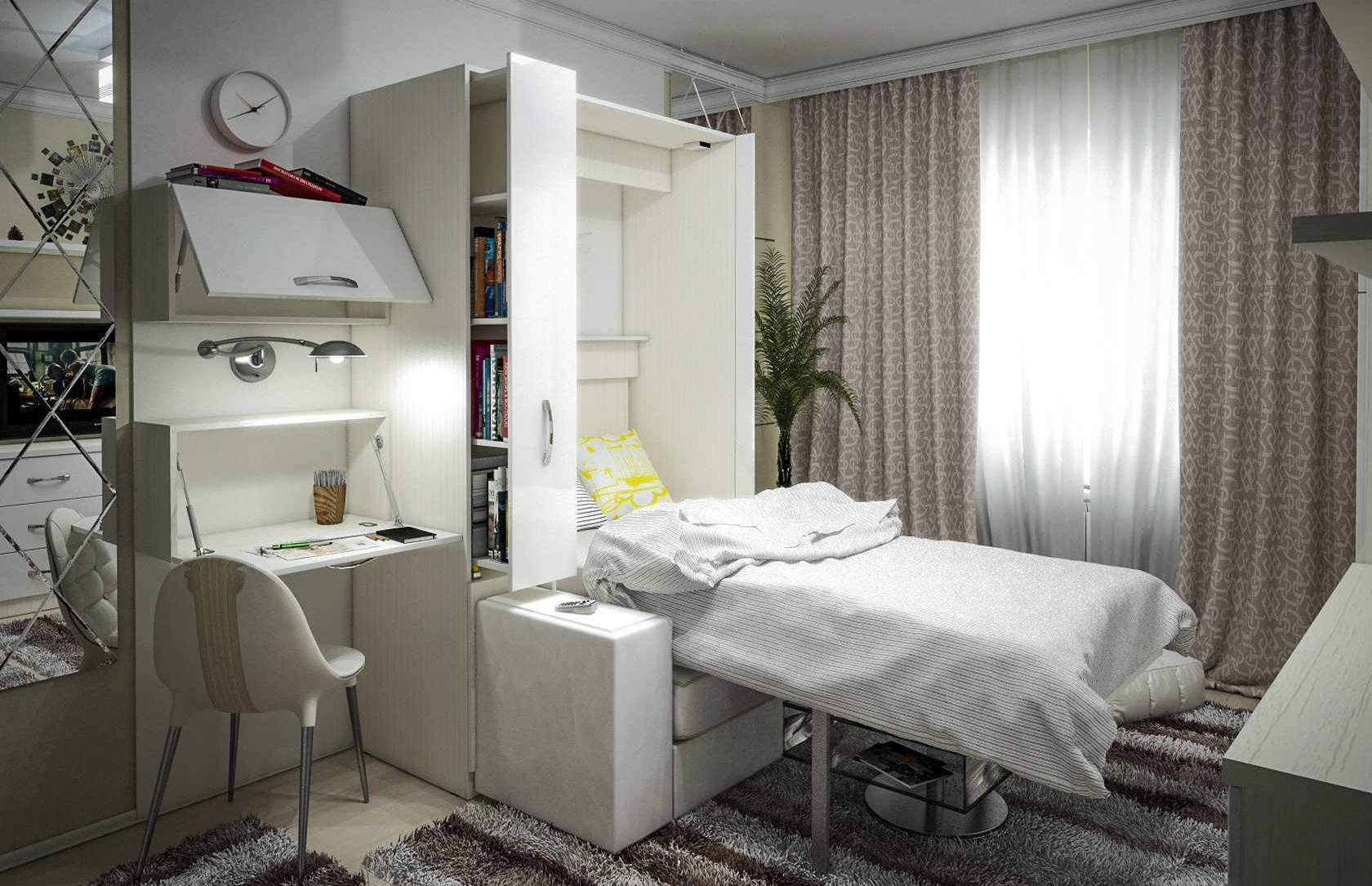 Комплект с 1-спальной подъёмной кроватью и диваном «Блик» спб