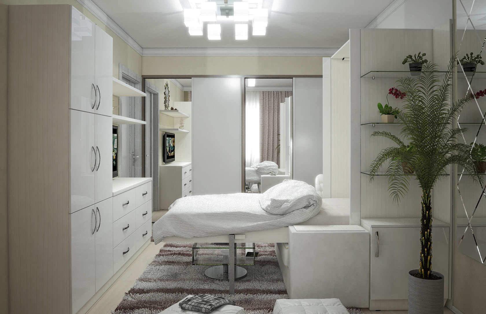 Комплект с 1-спальной подъёмной кроватью и диваном «Блик» недорого