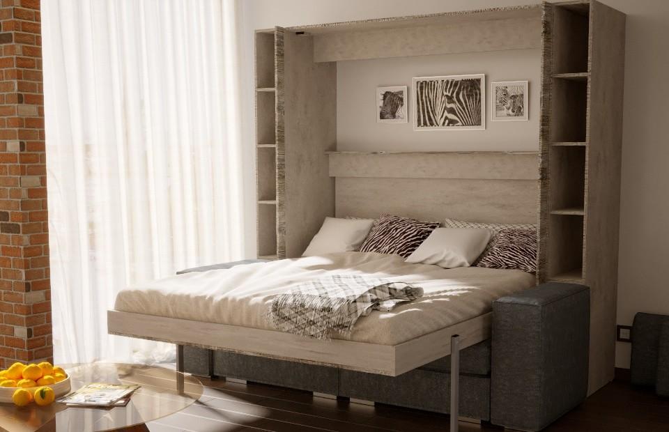 Подъёмная кровать «ЕВРО» с диваном купить