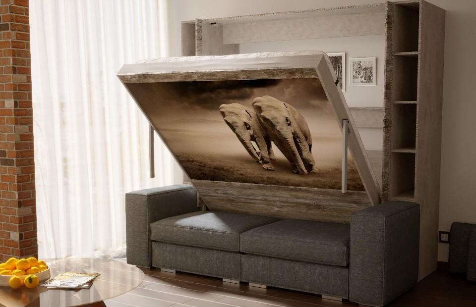 Подъёмная кровать «ЕВРО» с диваном в спб