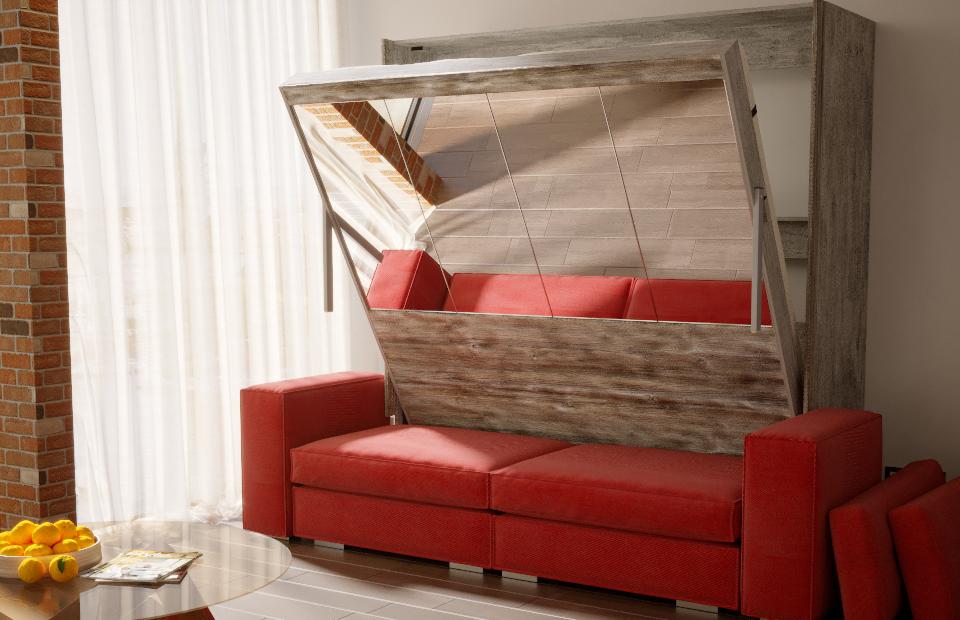 Подъёмная кровать «ЛЮКС» с диваном спб
