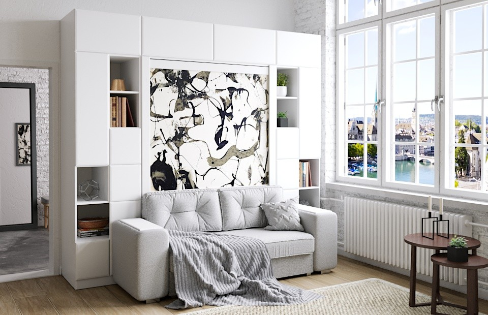 Комплект с подъёмной кроватью и диваном «Скандинавия»