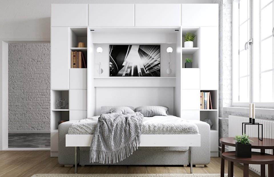 Комплект с подъёмной кроватью и диваном «Скандинавия» купить