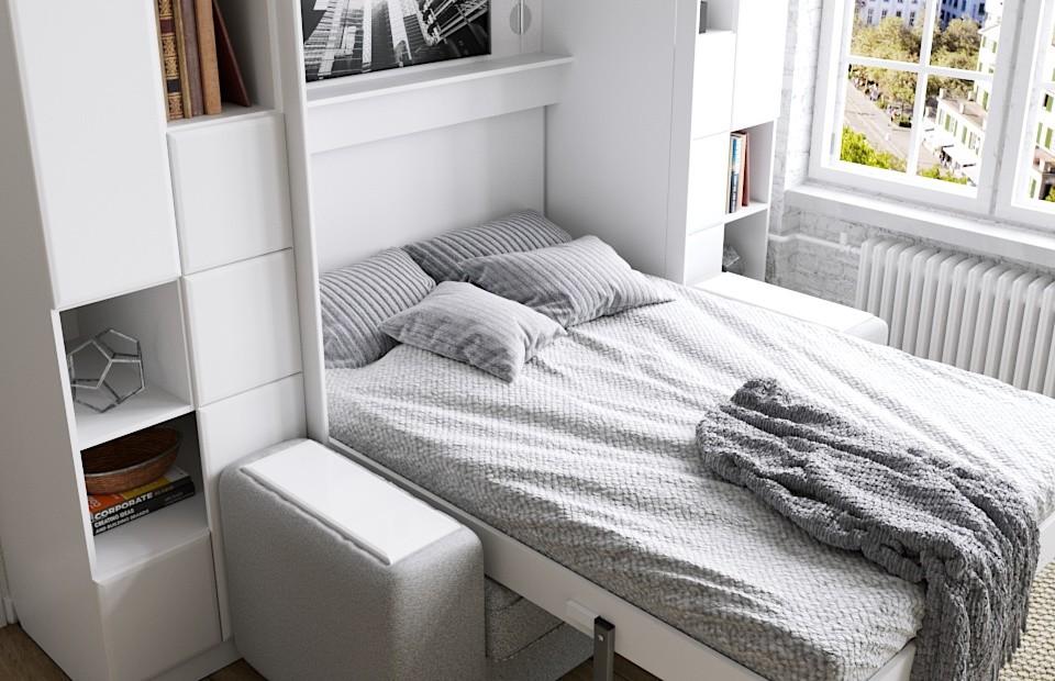 Комплект с подъёмной кроватью и диваном «Скандинавия» недорого
