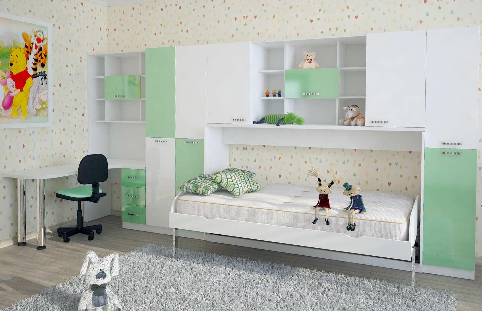 Подъёмная кровать ОПТИМУМ | Комплект «Сказка»