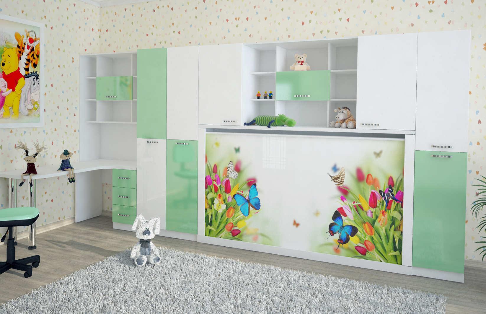 Подъемная кровать трансформер для детской в СПб