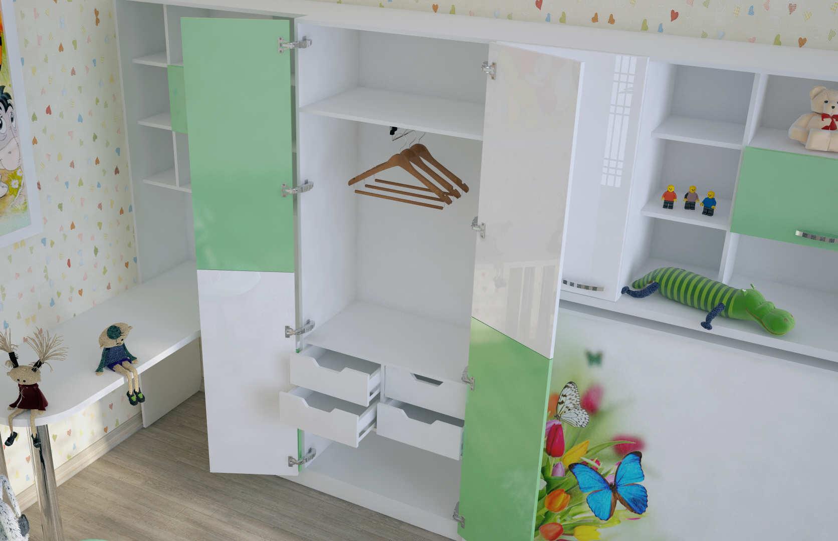 кровать трансформер для малогабаритной детской