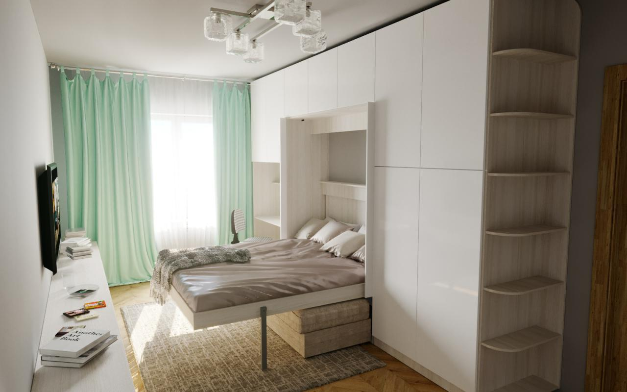 Сдержанный, гордый, функциональный комплект с кроватью «Берген»