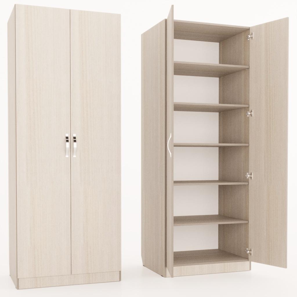 Шкаф двухстворчатый с полками
