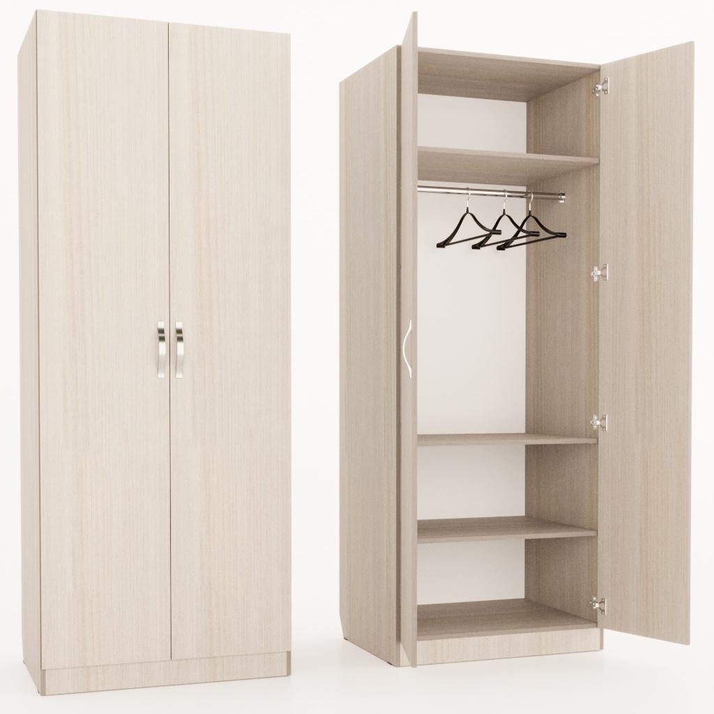 Шкаф с полками и штангой